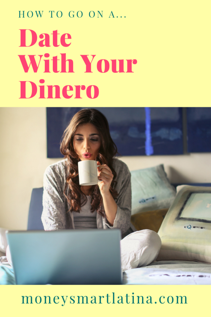 Does your dinero make you feel yucky inside? Mine did too until I started I went on a money date! I'm going to share what a money date is so you can go on one too and make your dinero your boo! | money date | latina money | money anxiety | financial anxiety | money mindset | https://moneysmartlatina.com/moneydate/